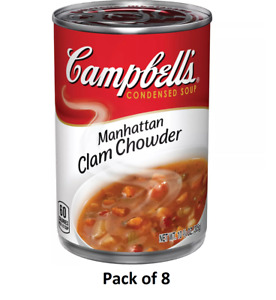 (Pack of 8) Campbell's Condensed Manhattan Clam Chowder 10.75 oz BB 6/22