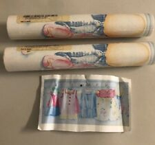 New Lot 2 Rolls Prepasted Sculpted Borders Hanging Girls Clothes Hat Bk2142B Nip