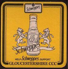 SCHWEPPES - GLOUCESTERSHIRE COUNTY CRICKET CLUB (CCC)  COASTER OK16039
