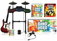 "PS3 ""BAND HERO"" + World Tour Game Set w/Guitar/Drums/Microphone bundle kit rock"