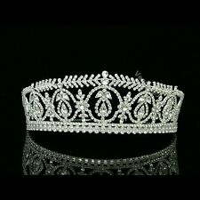 Stunning Bridal Pageant Rhinestone Crystal Prom Wedding Crown Tiara 8473