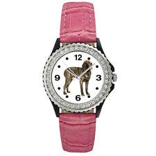 Fila Brasileiro Dog Brazilian Mastiff Ladies Cubic Zirconia Leather Watch Sgp301