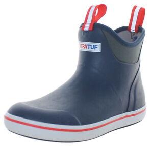 Xtratuf Men's Ankle Waterproof Deck Boots Navy/Red