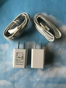 TWO SETs - 5 Watt 1 AMP Wall Charger and 2M 8 pin cable for ipad mini 1,2,3,& 4