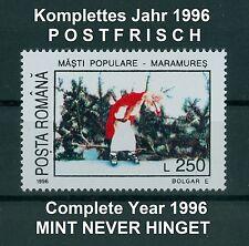 Rumänien 1996 komplettes ** Jahr,Mi.5155-5226,Block 298-304 ,Complete Year 1996