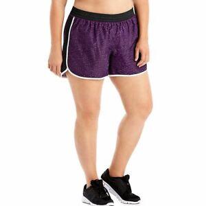 Just My Size Women's Plus Size Active Woven Run Shorts - 5 COLORS - 1XL-5XL