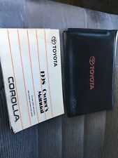 1998 TOYOTA COROLLA OWNERS MANUAL USED CONDITION