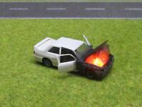 1:87 BMW M3 E30 H0 Motorbrand LED 12V Feuer Laser Cut Patina #12