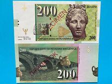 200 Denari Macedonia 2013 ver.B N/S: 173/800 Matej Gabris Banknote UNC