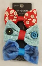 "New Disney Lilo & Stitch Character Hair Bow Set 3 Pack 3"" Scrump Buttons Aloha"