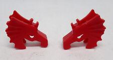 Lego 2 x Pferd Kopfschutz 6125 rot asu Set 7419 6069 6056 6496