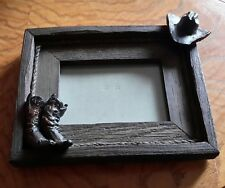 """Hat & Boots on Barnwood Photo Frame~ Frame Size~ 10"""" x 8"""" x 2"""" Photo Size 4 x 6"""