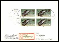 DDR FRESHWATER FISH WELS SOUVENIR SHEET 1987 SEALED FDC