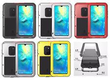Shockproof Waterproof Gorilla Glass Metal Rugged Case Bumper For Huawei Mate 20