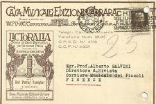 Bergamo Cartolina Autografo di Vittorio Carrara - Casa Musicale Carrara 1932