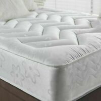 """10"""" DEEP QUILTED ORTHOPEDIC SPRUNG MATTRESS 3FT 4FT 4FT6 DOUBLE 5FT KING UK"""