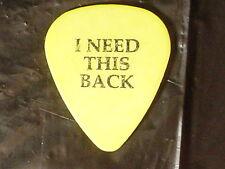 Bad Religon Punk Band Logo & I Need This Back RaRe Tour Guitar Pick