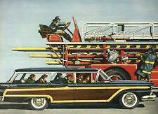 For V 8 Engine Country Squire Car Magazine Print Ad Vintage 1959 Station Wagon