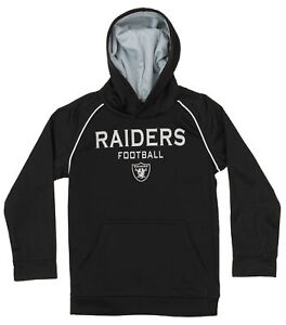 OuterStuff NFL Big Boys Performance Team Color Hoodie, Oakland Raiders