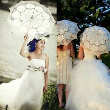 Vintage Handmade Cotton Parasol Lace Umbrella Bridal Wedding Party Decoration