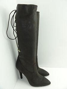 BCBGeneration Women's ERINN Oak Sueded Shimmer STR Heel Boots Size 8.5
