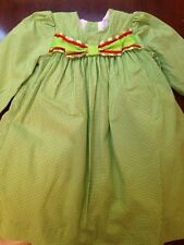 24 Month Bailey Boys GIRLS Dress Christmas Holiday Green Check Red Bow Long Slv