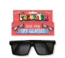 Rear View Spy Glasses - Black Sunglasses - See Behind You! - Novelty Shades