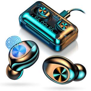 Bluetooth 5.0 Kopfhörer Wireless Touch Control In-Ear Headset Ohrhörer Anzeige