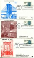 USA #2041 BROOKLYN BRIDGE FDC First Day of Issue Cover Stamps Postage Collection