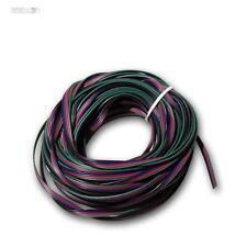 20m Litze 4 fili 0,14 mm ² Cavetto di rame rosso verde blu ideale Kael per