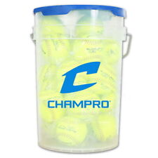 "Champro 11"" Slow Pitch Durahide Cover Bucket with 2 Dozen Balls CSB-GSP11X"