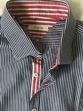 DELSIENA 1953 Men's Long Sleeve Shirt Size 17, Slim, in Excellent Condition