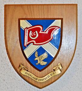 Scottish Caravan Club Highland Centre wall plaque shield crest