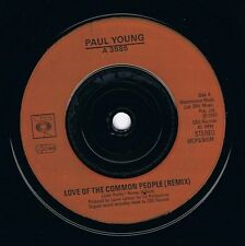 """PAUL YOUNG Love Of The Common People 7"""" Single Vinyl Record 45rpm CBS 1983 EX"""