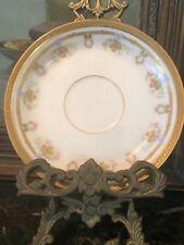 PL Limoges saucer Basket & wreaths gold trim