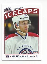 2015-16 St. John's IceCaps (AHL) Mark MacMillan (Tingsryds AIF)