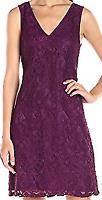Adrianna Papell blackberry lace sleeveless dress Ladies Size UK 12 *REF92