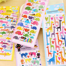 3D Bubble Kawaii Animal Sticker Cat Dog Giraffe Elephant for Kids Gift Toy LACA