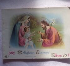 vintage religious catholic collectibles 1930's Lithograph Stamps Unused Basevi