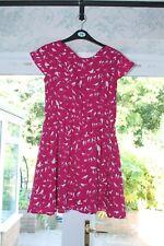 Yumi Girl Pink Bird Pattern Skater Dress, age 11-12 years, hardly worn.