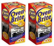 2 x Oven Brite Cleaner Kit Kitchen Cleaning Solution Liquid Gloves Degrease Bag