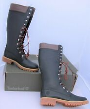 Women's Timberland Knee High Black Nubuck Leather Lace-Up Boots UK Sz 8 New Box