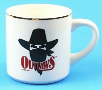 Oklahoma Outlaws Vintage Ceramic Cup Mug Football Team USFL 1980's EUC