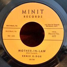 """Ernie K-Doe Minit 623 """"MOTHER-IN-LAW / WANTED, $10,000.00 REWARD""""(GREAT SOUL) 45"""