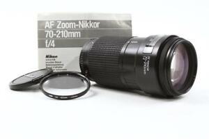 Nikon Af Nikkor 70-210mm f/4 AIS Lens w/ Filter & Caps