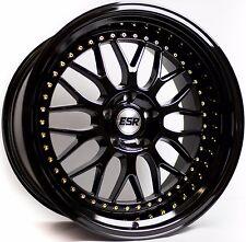 """18"""" ESR SR01 Gloss Black Wheels 18x8.5 +30 5x120 For BMW 325xi 330xi 328xi Rims"""