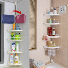 Shower Corner Pole Caddy Shelf Rack Space Saver Organizer Bath Tension Shelves