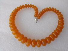 Vintage Beautiful Excellent Natural Baltic Egg Yolk Honey Amber Women's Necklace