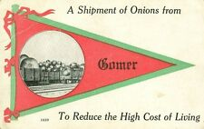 Comer, OH A 1913 Shipment of Onions and Greetings from Comer