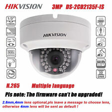 Hikvision DS-2CD2135F-IS POE 3MP 4mm 30M IR HD H.265 Network Mini Dome Camera